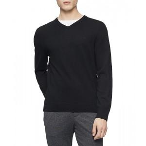 Calvin Klein Merino V-Neck Sweater Black