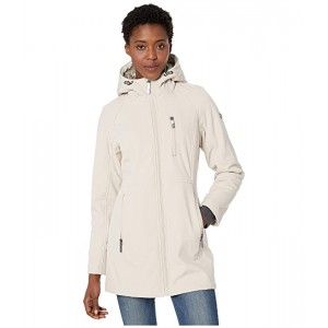 Calvin Klein Softshell Jacket with Packable Bib Insert Oyster