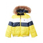 Tommy Hilfiger Kids Color-Block Puffer wu002F Removable Hood (Big Kids) Dandelion