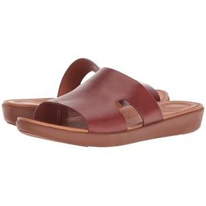 FitFlop H-Bar Slide Sandals Cognac