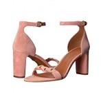 COACH Heel Sandal Peony Link Leather Suede