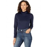 Lacoste Long Sleeve Solid Color Turtleneck Tee Navy/Blue