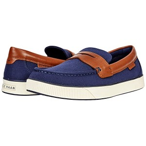 Cole Haan Nantucket 2.0 Penny Navy Textile/Tan