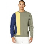 Long Sleeve Thick Stripe Color-Blocked with Lacoste Wording on Sleeve