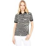 Lacoste National Geographic Short Sleeve All Over Print Polo Zebra/Zebra