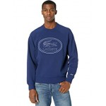 Long Sleeve Large Tonal Embroidered Croc on Chest