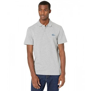 Short Sleeve Polo with Medium Size Badge on Left Chest