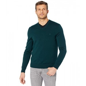 Calvin Klein Merino V-Neck Sweater Peacock