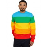 Long Sleeve Color-Block Rainbow Polaroid Sweatshirt