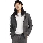Tommy Hilfiger Plains Hoodie Zip-Up Sweatshirt Charcoal Grey Heather