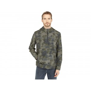 Levis Lightweight Printed Popover with Hood Army Green