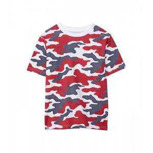 Tommy Hilfiger Kids Dotted Camo Short Sleeve T-Shirt (Bid Kids) Bright White