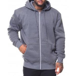 fleece full zip hoodie sweetshirt (b&t)