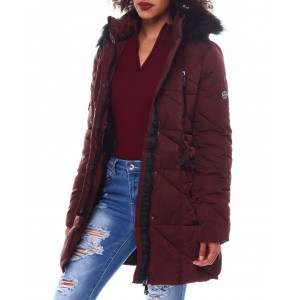heavy belted coat w/faux hood ,spandex thumb hole cuff