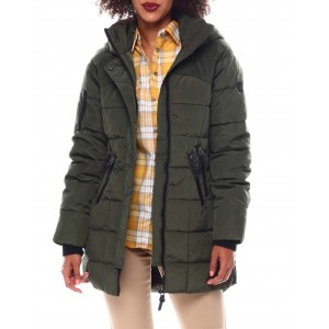heavy weight coat w/multi pkts sweater rib
