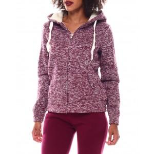 full zip cozy hoodie