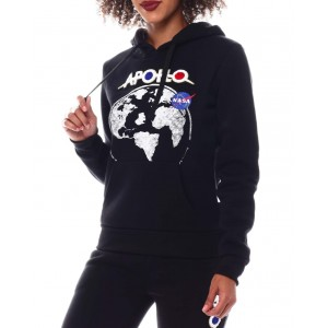 nasa chenille & patch pullover hoodie