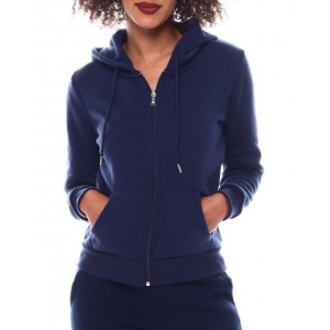 full zip basic fleece hoodie