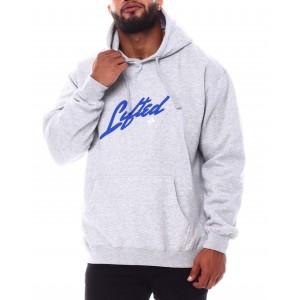 squared script pullover hoodie (b&t)