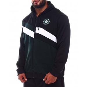 diagonal blocked zip hoodie (b&t)