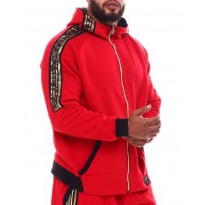 colorblock full zip hoodie jacket (b&t)