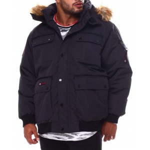 hooded parka bomber coat (b&t)
