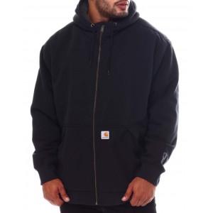 sherpa lined full zip sweatshirt hoodie (b&t)