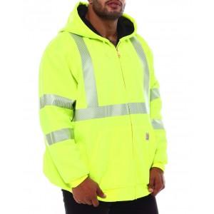 neon zip front thermal lined sweatshirt (b&t)