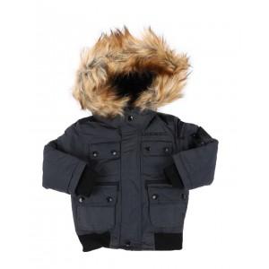 hooded bomber jacket w/ faux fur trim (2t-4t)