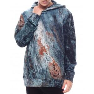 dodran mineral print hoodie