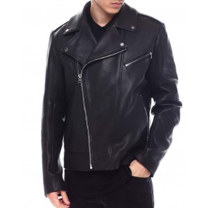 lyder nappa leather moto jacket