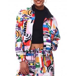 pi all over print track jacket
