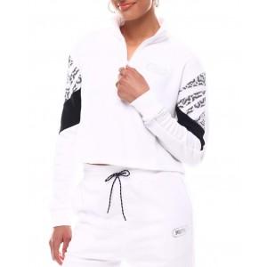 rebel half-zip crew neck pullover
