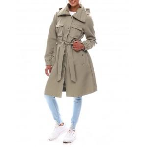 nvl utility rain coat w/hidden hood that unfolds from under the collar
