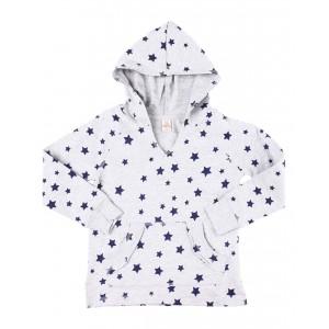 star print hooded top (4-6x)