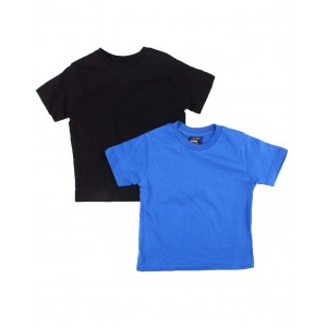 2 pack solid crew neck t-shirts (2t-4t)