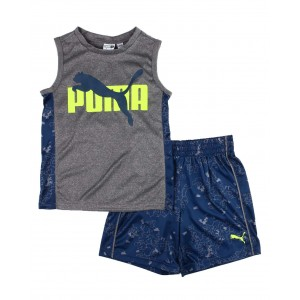 2 pc performance muscle tee & shorts set (4-7)