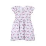 rainbow print cap sleeve dress (2t-4t)