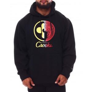half lux rainbow hoodie (b&t)