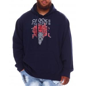 bandusa paisley hoodie (b&t)