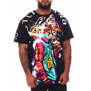 tiger style knit t-shirt (b&t)