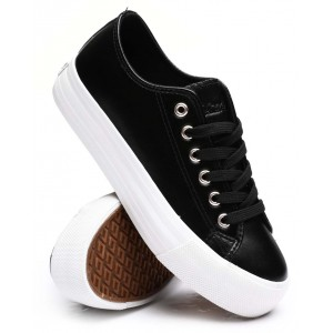 beyley102l synthetic leather sneakers