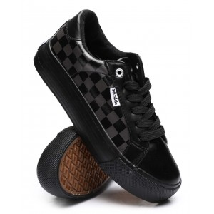 beyley119l lace up checkered sneakers