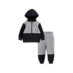 Boys Infant Jordan Air Jumpman Fleece Full-Zip Hoodie and Jogger Pants Set