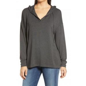 Signaturesoft Open Neck Hooded Pullover