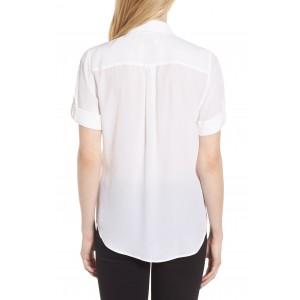 Slim Signature Short Sleeve Silk Shirt