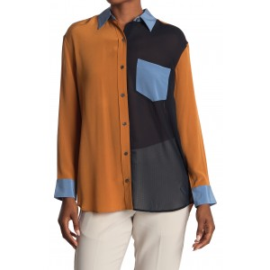 Elsee Silk Colorblock Shirt
