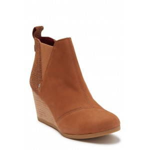 Kelsey Leather Wedge Bootie