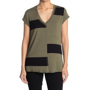 Wide Striped V-Neck Shirt