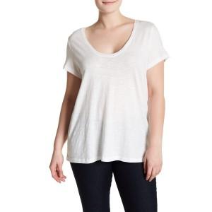 Scoop Neck Slub T-Shirt